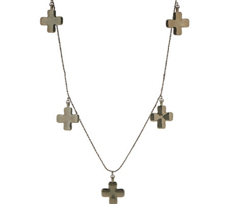Linea Louis Dell'Olio Baroque Cross Station Necklace