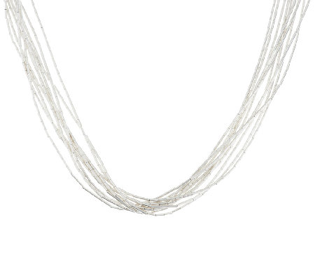 "American West 10 Strand Liquid Silver 17"" Necklace"