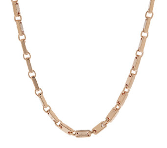"Bronze 18"" Polished Status Link Necklace by Bronzo Italia - J291119"
