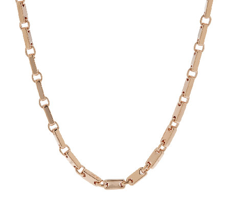"Bronze 18"" Polished Status Link Necklace by Bronzo Italia"