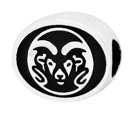 Sterling Silver Colorado State University Bead