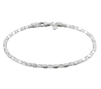 "UltraFine Silver 9"" Luminosa Ankle Bracelet - J301519"
