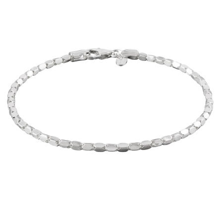 "UltraFine Silver 9"" Luminosa Ankle Bracelet"