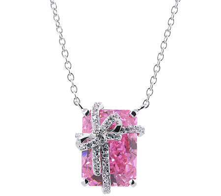 Diamonique 8.20 cttw Present Pendant Necklace, Platinum Clad
