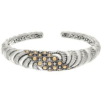 JAI Sterling & 14K Gold Andaman Sea Textured Cuff Bracelet