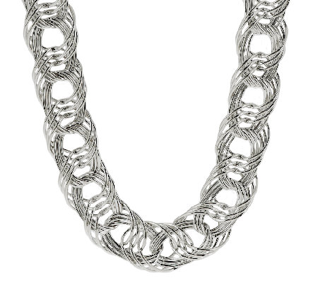 """As Is"" Sterling Bold Woven 18"" Necklace, 47.50g"