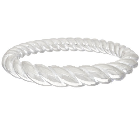 """As Is"" UltraFine Silver Average Graduated Twist Bangle,15.0g"