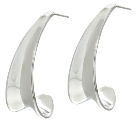 RLM Bronze Concave Knife Edge J-Hoop Earring