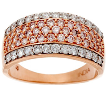 Natural Pink & White Diamond Band Ring, 14K, 1.00 cttw, by Affinity - J329619