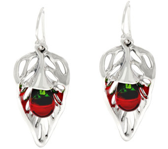 Hagit Sterling Silver Multi-color Glass Earrings - J329819
