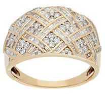 Basketweave Design Diamond Ring, 14K, 1.00 cttw, by Affinity - J331119