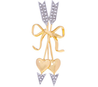 Joan Rivers Pave' Hearts and Arrows Brooch - J331719