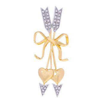Joan Rivers Pave' Hearts and Arrows Brooch