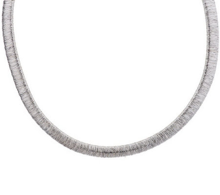 """As Is"" Vicenza Silver Sterling Diamond Cut Wire Necklace"