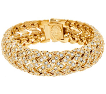 """As Is"" Joan Rivers Estate Style Pave' Basket Weave Bracelet - J332619"
