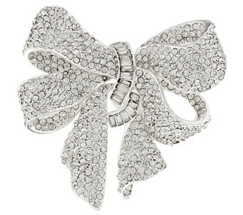 """As Is"" Joan Rivers Bejeweled Estate Style Bow Pin - J333119"