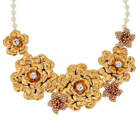 """As Is"" Joan Rivers Limited Edition Gilded Garden 18"" Bib Necklace"