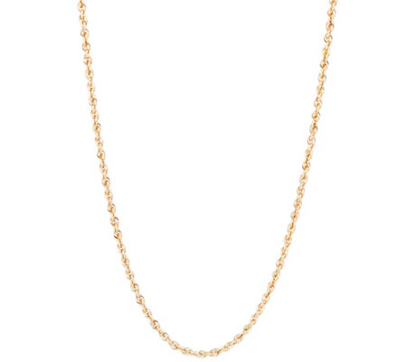"EternaGold 24"" Shimmer Rope Necklace 14K Gold, 2.2g"