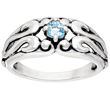 Carolyn Pollack Sterling Silver Signature Birthstone Ring - J334019