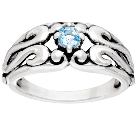 Carolyn Pollack Sterling Silver Signature Birthstone Ring