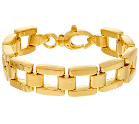 Oro Nuovo Large Panther Link Reversible Bracelet, 14K