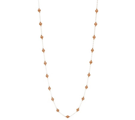 "Italian Gold 36"" Polished Bead Necklace 14K Gold, 2.5g"