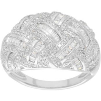 Pave' Diamond Basketweave Ring, 14K, 3/4 cttw, by Affinity