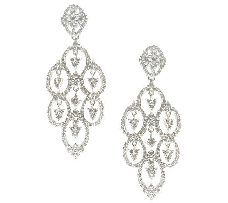 Judith Ripka Sterling Diamonique Drop Earrings