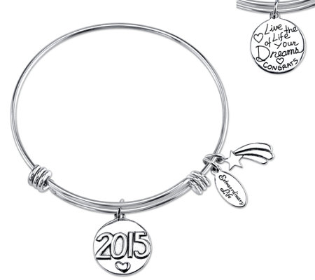 Sterling Expandable Graduation Bangle by Extraordinary Life
