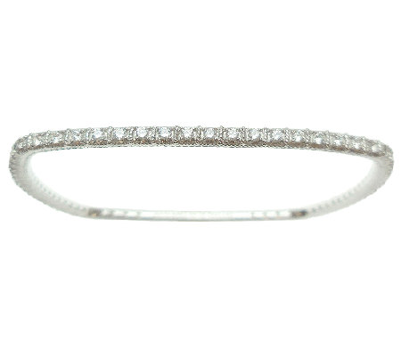 Judith Ripka Sterling Diamonique Square Bangle