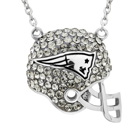 NFL Sterling Silver Crystal Football Helmet Pen dant w/Chain