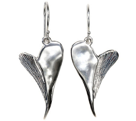 Hagit Sterling Contemporary Heart Earrings