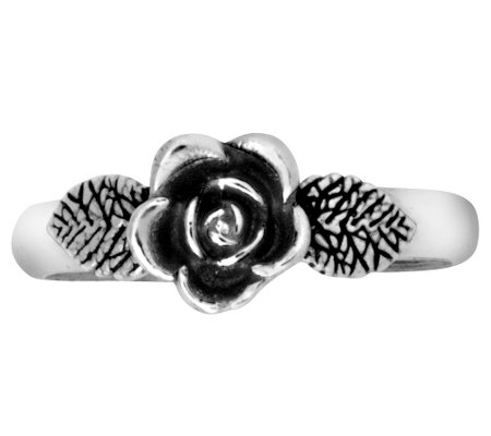 Sterling Silver Rose Toe Ring by Or Paz