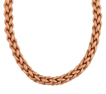 Carolyn Pollack Radiance Bronze Braided LeatherCord - J343619
