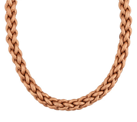 Carolyn Pollack Radiance Bronze Braided LeatherCord