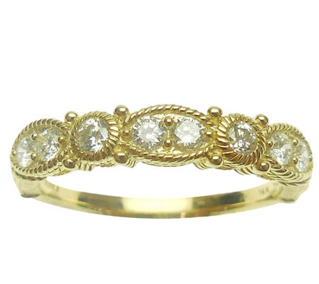 Judith Ripka 14K Gold 4/10 cttw Diamond Ring