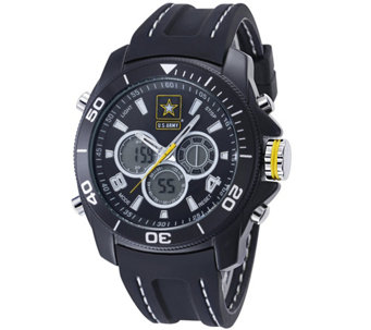 Wrist Armor U.S. Army C29 Multifunction Watch -Black & White - J345719