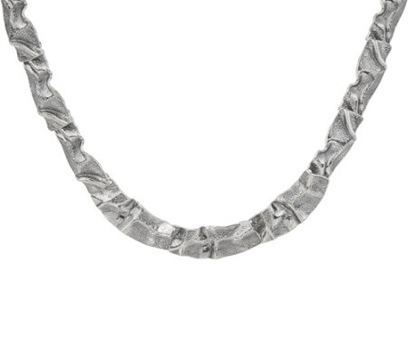 "Or Paz Sterling Silver 20"" Bold Ribbon Necklace"