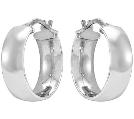 Sterling Classic Round Hoop Earrings by SilverStyle