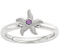 Simply Stacks Sterling Gemstone Starfish Ring - J376419