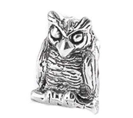 Prerogatives Sterling Owl Bead