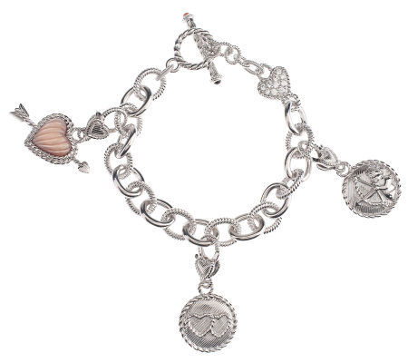 Judith Ripka Choice of Love Link Bracelet, Sterling Silver