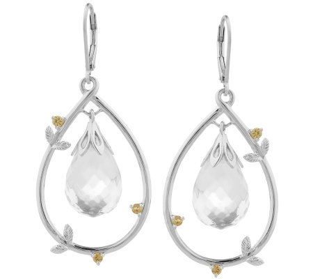ChristieBrinkle Crystal Quartz & Sapphire Earrings, Sterling