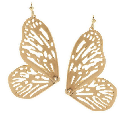 Wildlife by Heidi Klum Open Work Butterfly Earrings