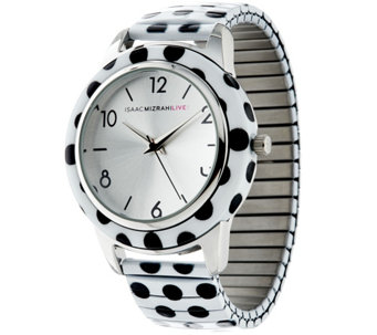 Isaac Mizrahi Live! Polka Dot Expansion Watch - J289120