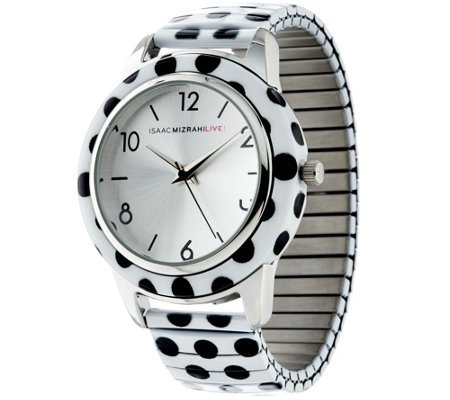 Isaac Mizrahi Live! Polka Dot Expansion Watch