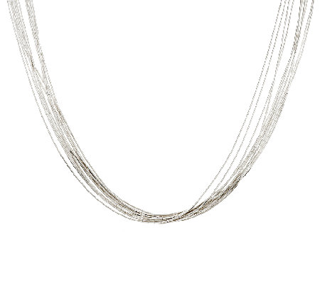 "American West 10 Strand Liquid Silver 21"" Necklace"