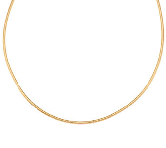 "VicenzaGold 18"" Mesh Wrapped Round Omega Necklace, 14K - J295720"