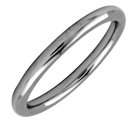 Simply Stacks Sterling Black Rhodium-Plated 2.25mm Polish Ring