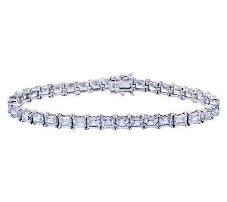 Diamonique Sterling Princess Tennis Bracelet